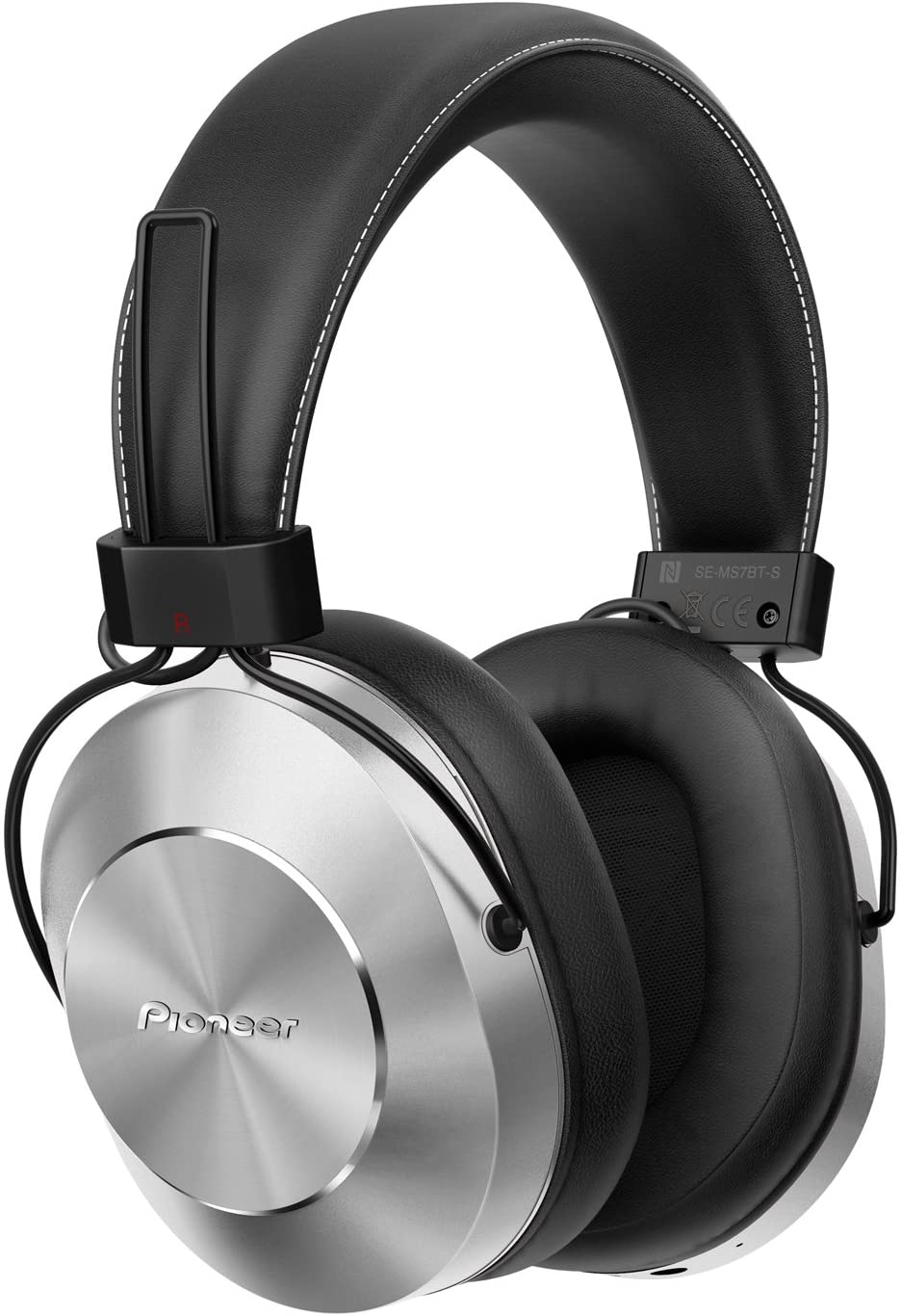 Pioneer SE-MS7BT-S - Auriculares de Tipo Diadema (Bluetooth, Hires, Power Bass, NFC), Color Plata