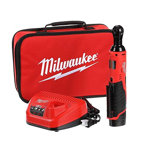 Milwaukee 2457-21 3 8-in Cordless M12 Lithium-Ion Ratchet Kit Ratchet Kit w Tool Bag