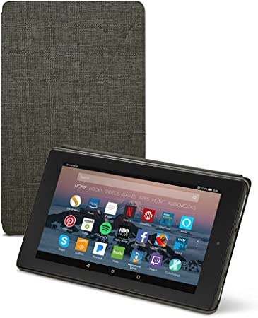 Amazon Com Amazon Fire 7 Tablet Case 7th Generation 2017 Release Charcoal Black Kindle Store