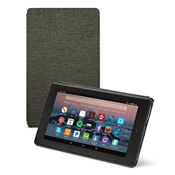 the best attitude 90189 8fa6e Amazon Fire 7 Tablet Case (7th Generation, 2017 Release), Charcoal Black