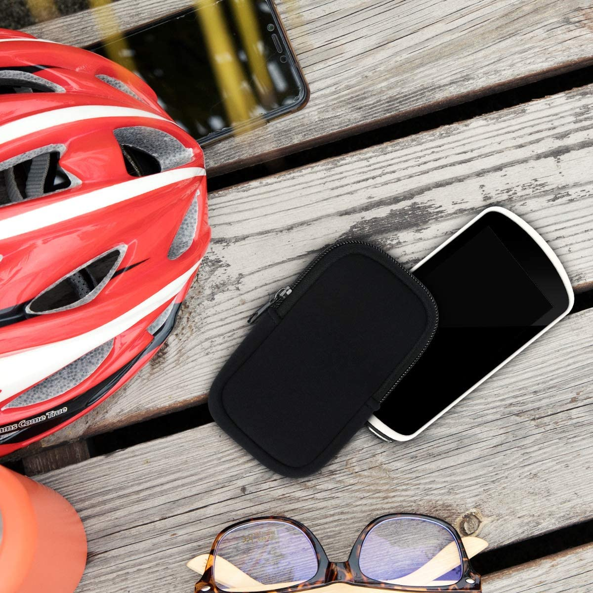 Black 1000 Protective Zippered Pouch Holder for Bike GPS kwmobile Case Compatible with Garmin Edge 1030//1030 Plus