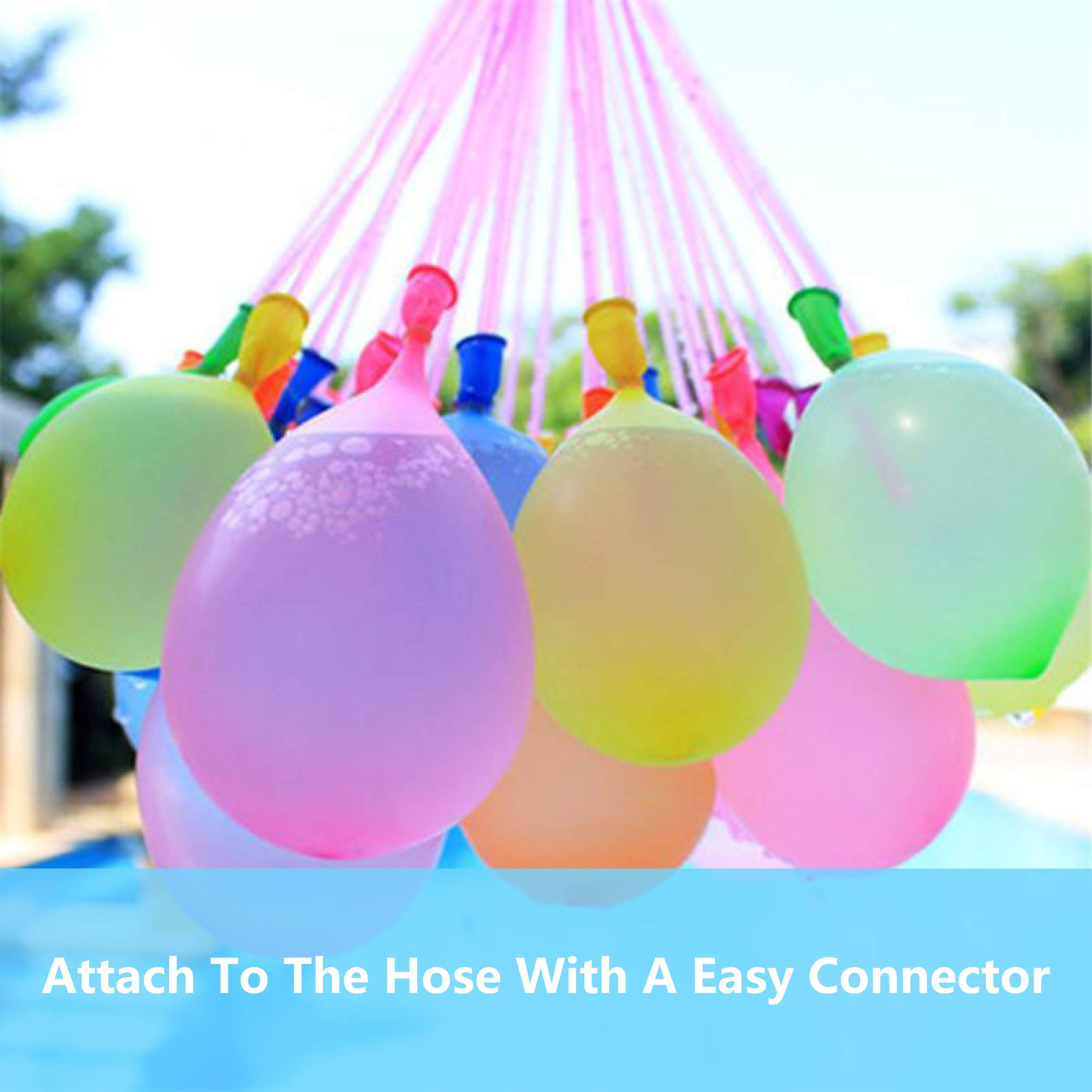 Water Balloons for Kids Girls Boys Balloons Set Party Games Quick Fill Water Balloons 594 Bunches Swimming Pool Outdoor Summer Fun A6 by Magic balloons (Image #3)