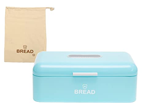 Turquoise Bread Box Unique Amazon EandB Vintage Bread Box For Kitchen Stainless Steel
