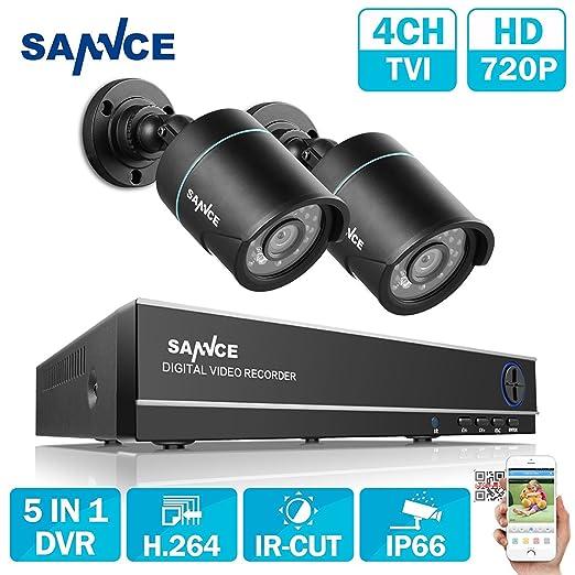 6 opinioni per SANNCE Kit di Sorveglianza 1080P Lite DVR TVI 4 Canali 2 Telecamera Sorveglianza