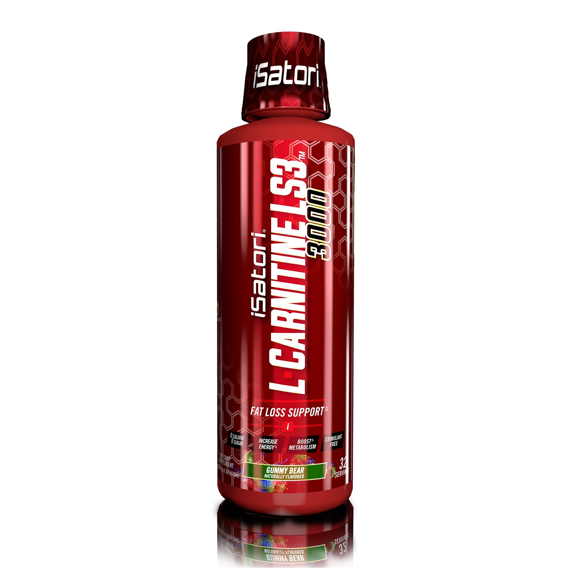 iSatori L-Carnitine LS3 Concentrated Liquid Fat Burner And Metabolism Activator - Fat Burner For Health And Fitness - Stimulant Free - Gummy Bear 3000mg - 32 Servings