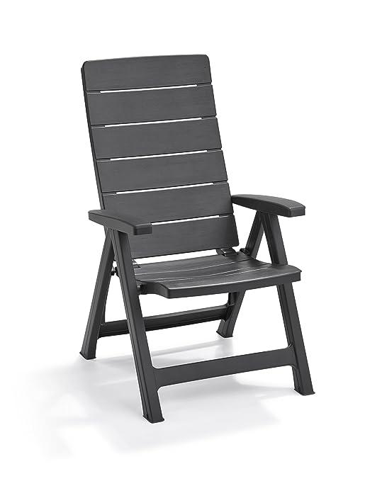 Keter - Silla reclinable de jardín exterior Brasilia, Color ...
