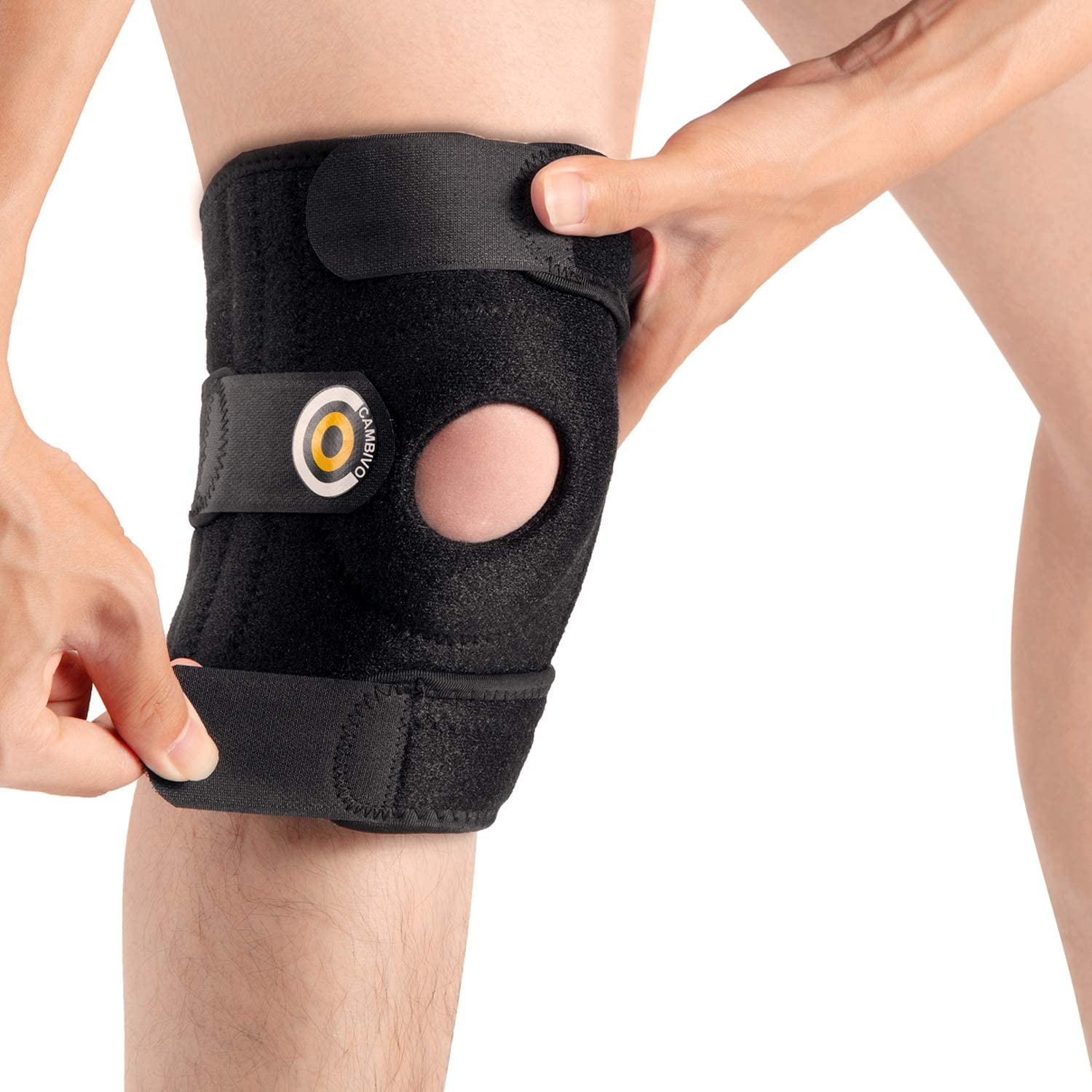 Lime,X-Large Hiking Knee Compression Sleeve Support for Men and Women Running ACL Arthritis Meniscus Tear CAMBIVO 2 Pack Knee Brace Home Gym Sports