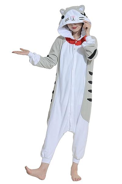 Gato Cosplay Animales Pijamas Mujer Invierno Novedad Navidad Traje Disfraz Adulto