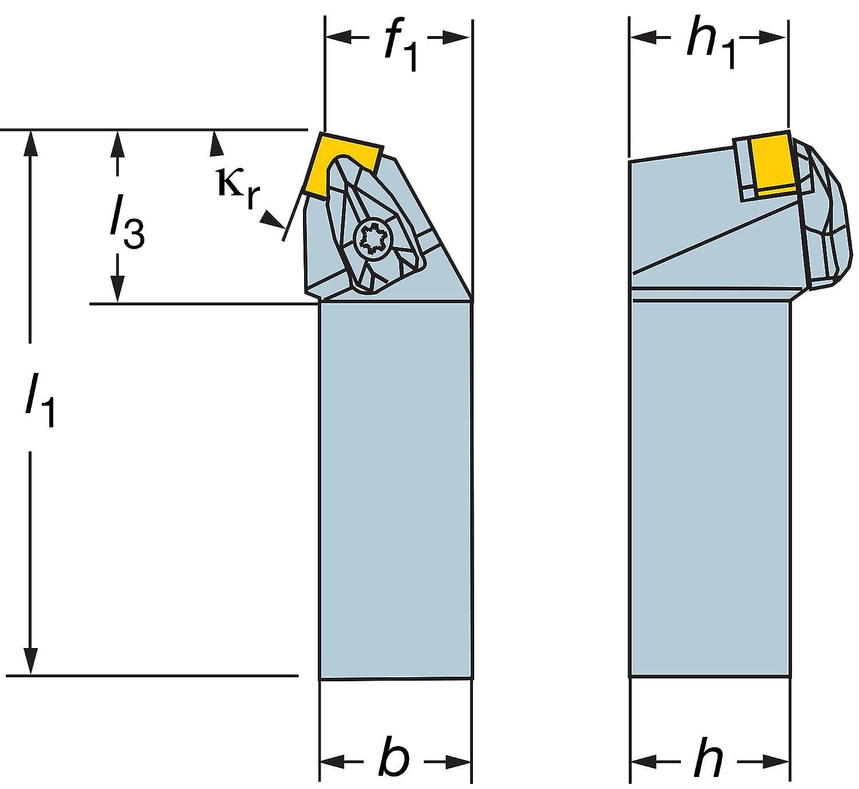 0.625 Shank Width Left Hand Cut Sandvik Coromant DSRNL 10 3B Steel CoroTurn RC Rigid Clamp Tool Holder