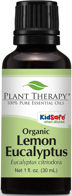 Plant Therapy Eucalyptus Lemon Organic Essential Oil 30 mL (1 oz) 100% Pure, Undiluted, Therapeutic Grade Plant Therapy Essential Oils