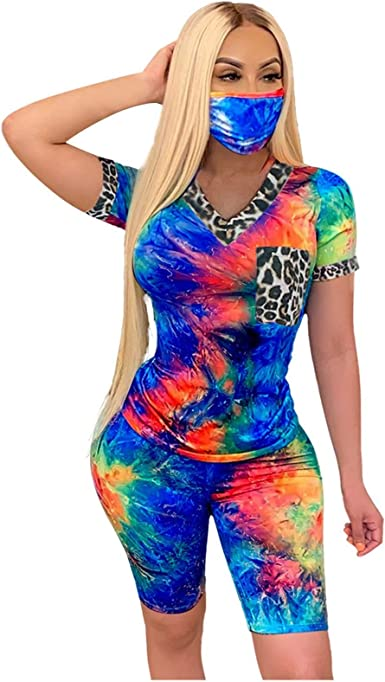 2Pcs Womens Ladies Sport Workout Gym T-Shirt Tops+Shorts Sets Outfits Tracksuits