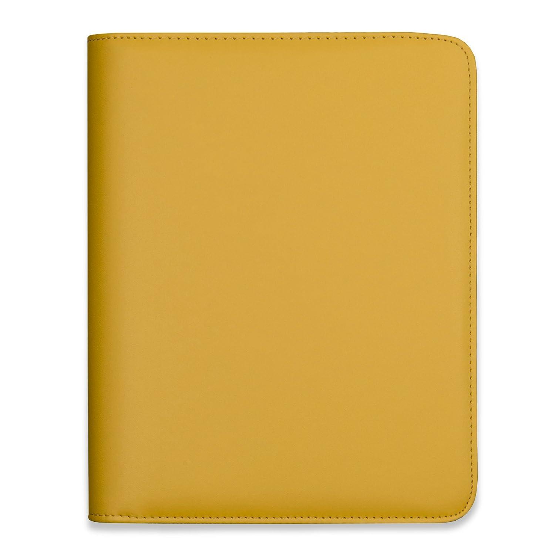 Copertina per agenda A5 Luxury Boxclever Press, in eco pelle di alta qualità con cerniera tutta intorno e tasche extra per aiutarti ad organizzarti [MOSTARDA]