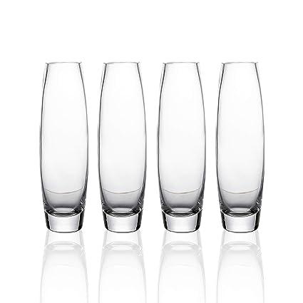 Amazon Whole Housewares Clear Glass Bud Vase Set Of 4big Size