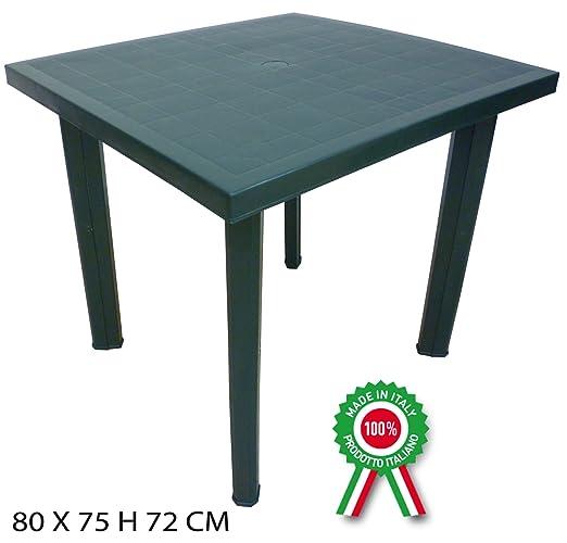 4 opinioni per Tavolo tavolino quadrato in resina di plastica verde Fiocco per esterno