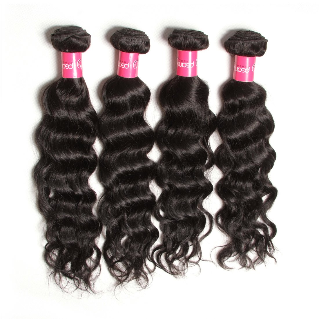 Longqi 7a Unprocessed Virgin Hair Brazilian Natural Wave Bundles Pack of 3 Cheap Wavy Human Hair Bundles Deal (18 20 22inch, Natural Color) by Dinoce (Image #2)