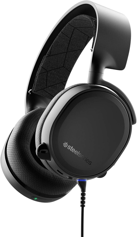 SteelSeries Arctis 3 Bluetooth - Auriculares de Juego con Cable e Inalámbricos para Nintendo Switch, PC, PlayStation 4, Xbox One, RV, Android e iOS, Negro