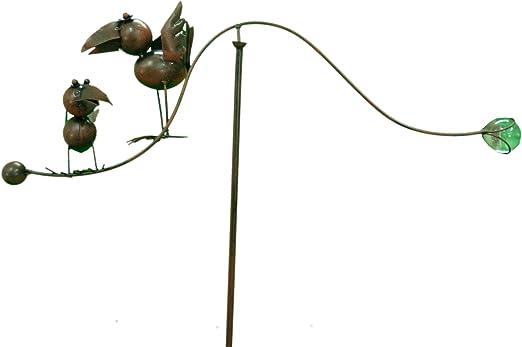 east2eden Spinning balance mamá y bebé adorno de metal garden Wind Spinner: Amazon.es: Jardín