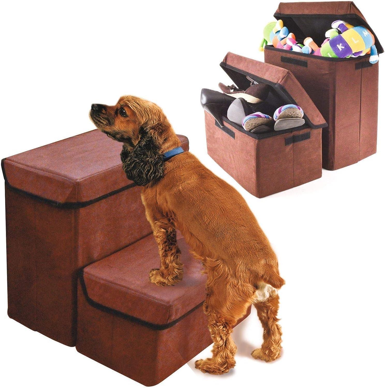 Generic .Age Compartme Dos Compartimentos de Almacenamiento Cajas Dos Perro Gato Escalera S Mascota escaleras Plegables S escaleras Plegable: Amazon.es: Electrónica