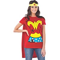 Rubie's Costume DC Comics Wonder Woman T-Shirt With Cape And Headband  Red