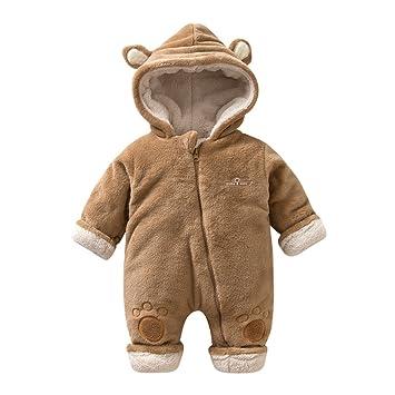 42cc53acbee6d famuka 新生児 服 冬 カバーオール ジャンプスーツ 防寒 暖かお出かけ 耳付きカバーオール ふわふわ もこもこ アウター