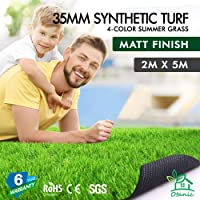 OTANIC Artificial Grass 10 SQM 1 Roll Synthetic Turf Matt Finished 35mm Pile Height Fake Yarn Lawn Plant 4-Tone Colour
