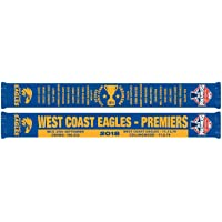 West Coast Eagles AFL Footy 2018 Premiers Scarf