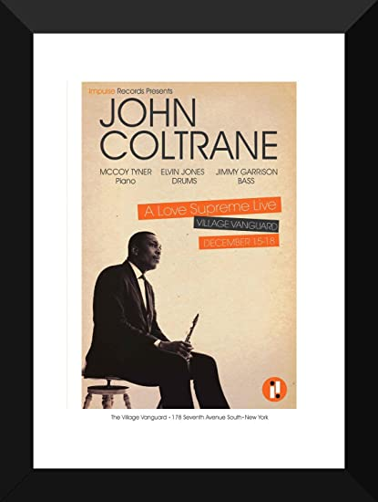 Tallenge Music Collection Jazz Legends John Coltrane A Love Supreme Concert Poster