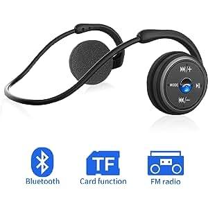 Auriculares Bluetooth 4.1, 3-en 1 Estéreo Auricular Deportivo, Cascos Inalámbricos con Micrófono