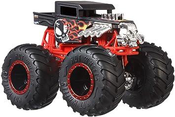 Hot Wheels - Monster Trucks Vehículo 1:64 agitador de huesos, coches de juguetes (Mattel GJY18)