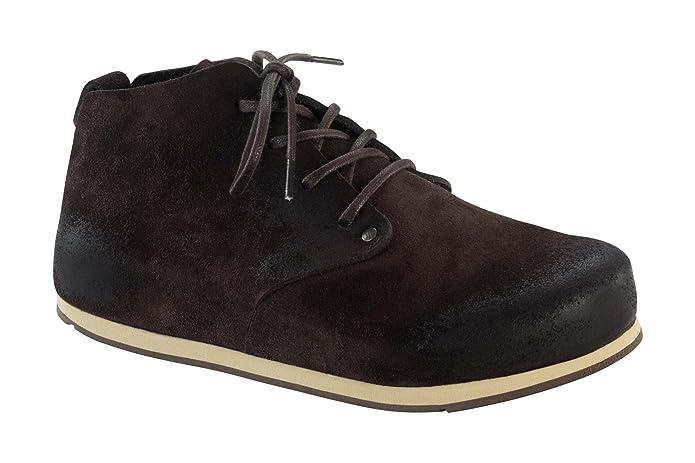Birkenstock Dundee 692063 - Zapatos casual de ante unisex, BLACK-N, 41.0 EU