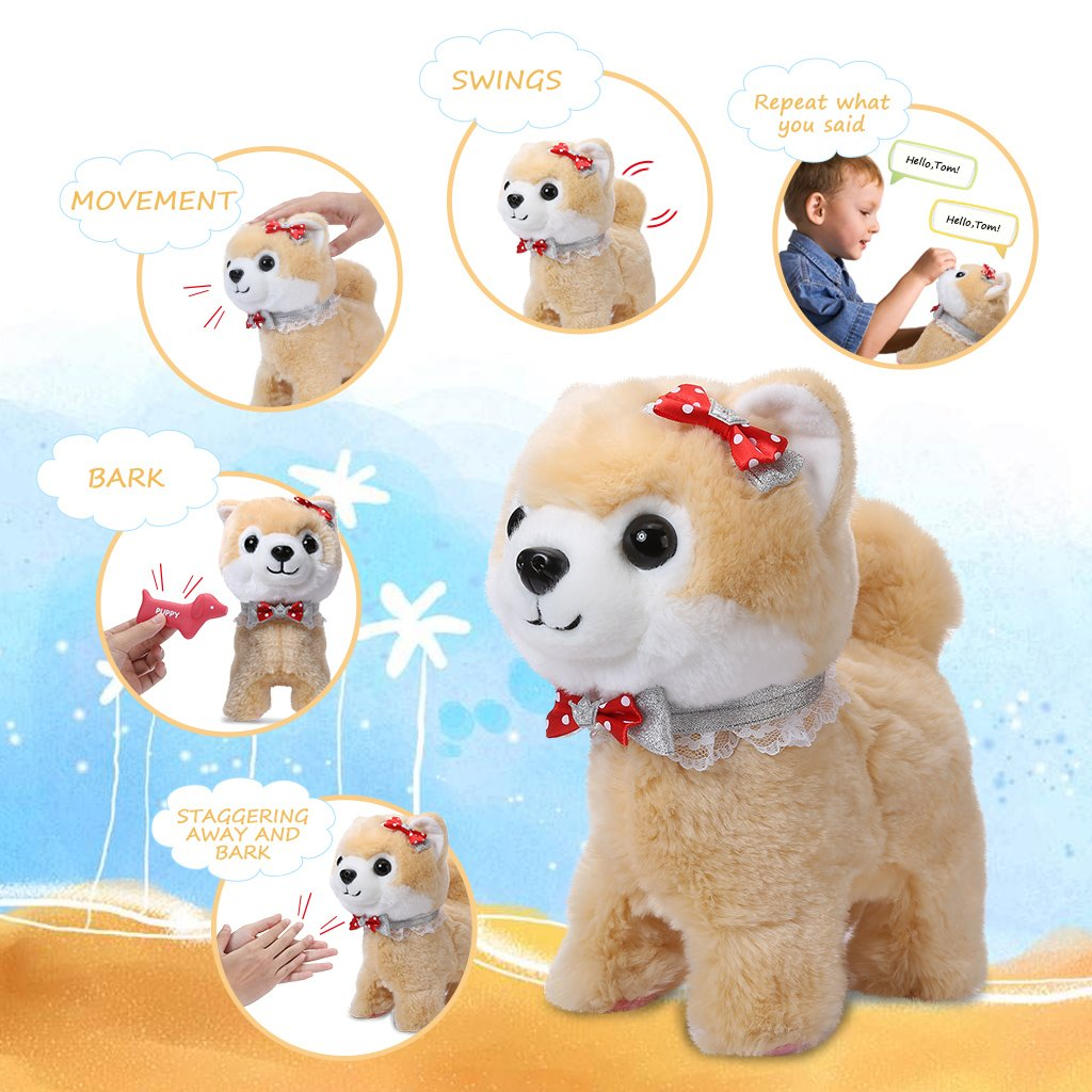 Elektrisches Spielzeug Gehen Gebell Puppy Hundespielzeug Pet Elektr Shinehalo Elektronisches Haustier