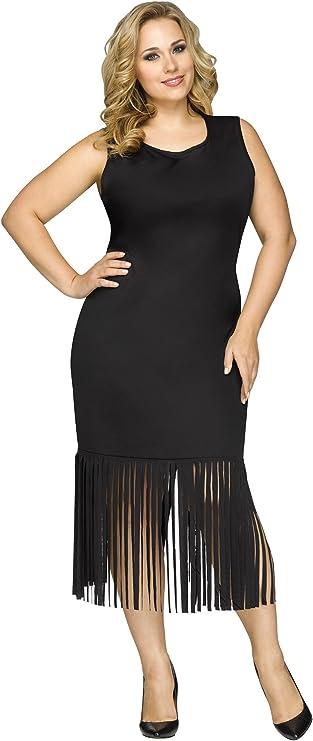 Flapper Costumes, Flapper Girl Costume Fringe Character Dress Adult Costume $35.00 AT vintagedancer.com