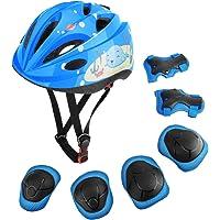MoKo Beschermingsset voor kinderen, verstelbare helm, kniebeschermers, elleboogbeschermers, polsbeschermers voor…