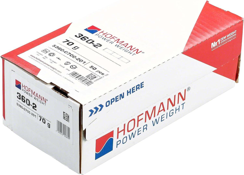 Hofmann Power Weight 50x Wuchtgewichte Klebegewichte Alufelgen 70g Auswuchtgewichte Alufelgen Reifenwechsel Auto