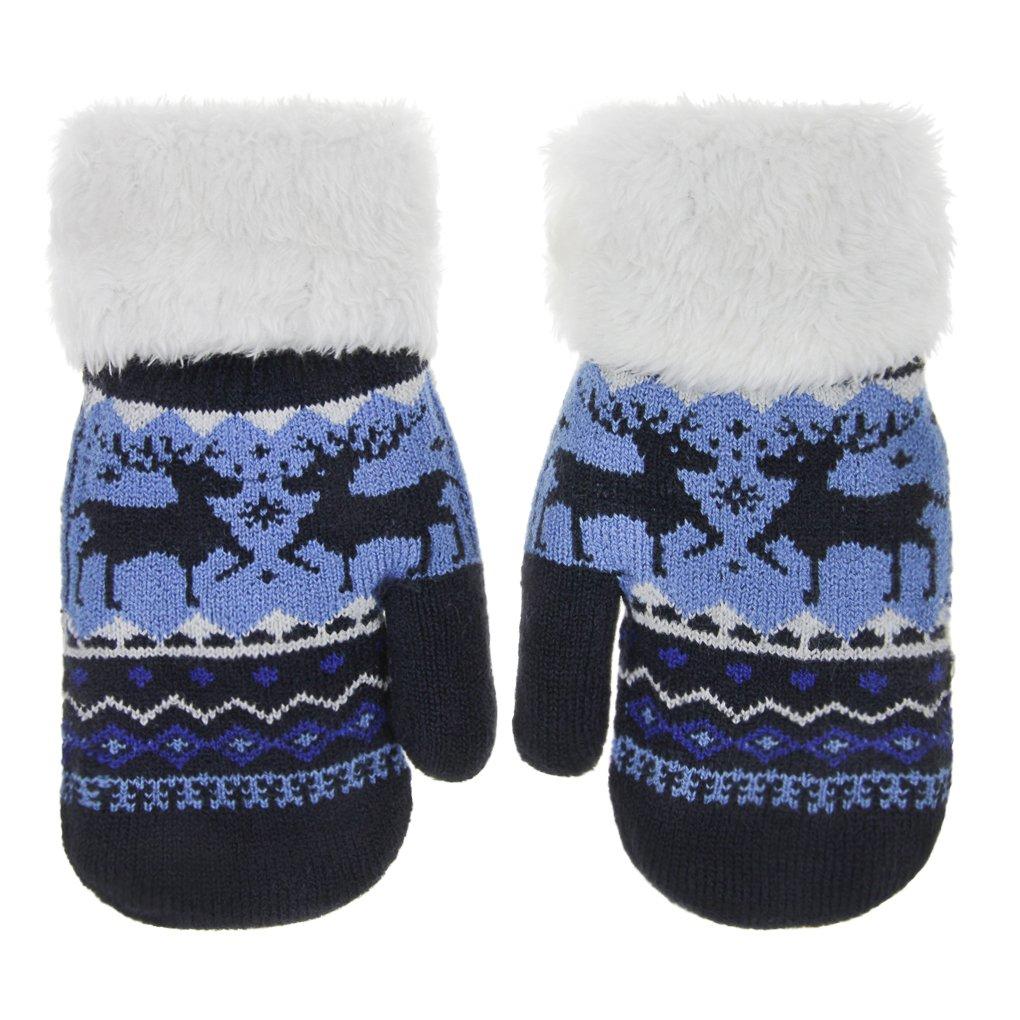 Kinder Handschuhe Winter Warm Strickhandschuh Dick Fausthandschuhe Outdoor Sport Skihandschuhe