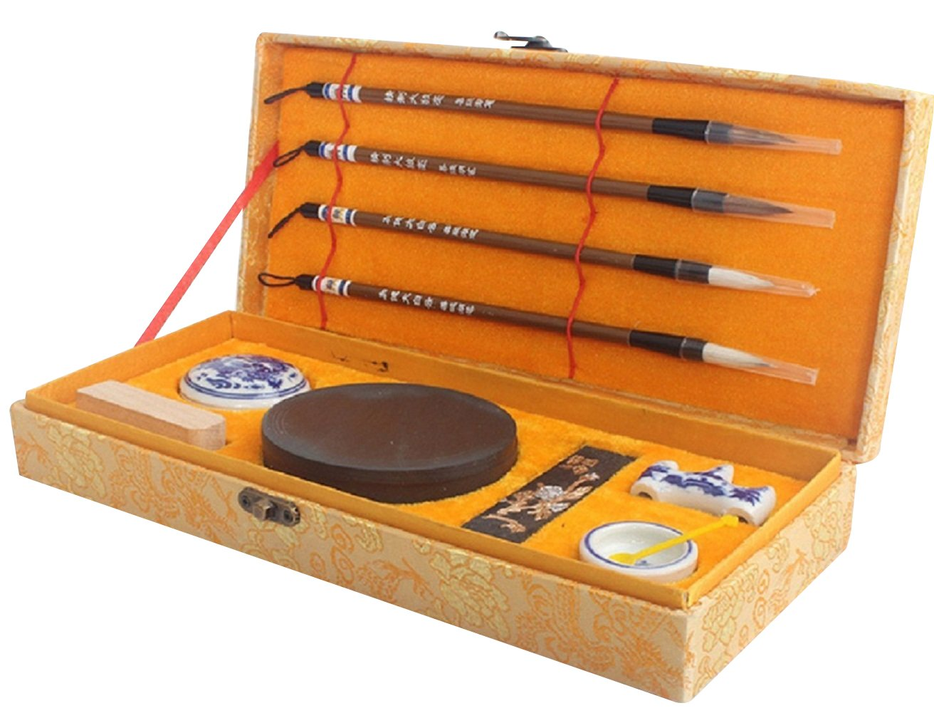 Calligraphy Package including Brush,Sumi and Kanji