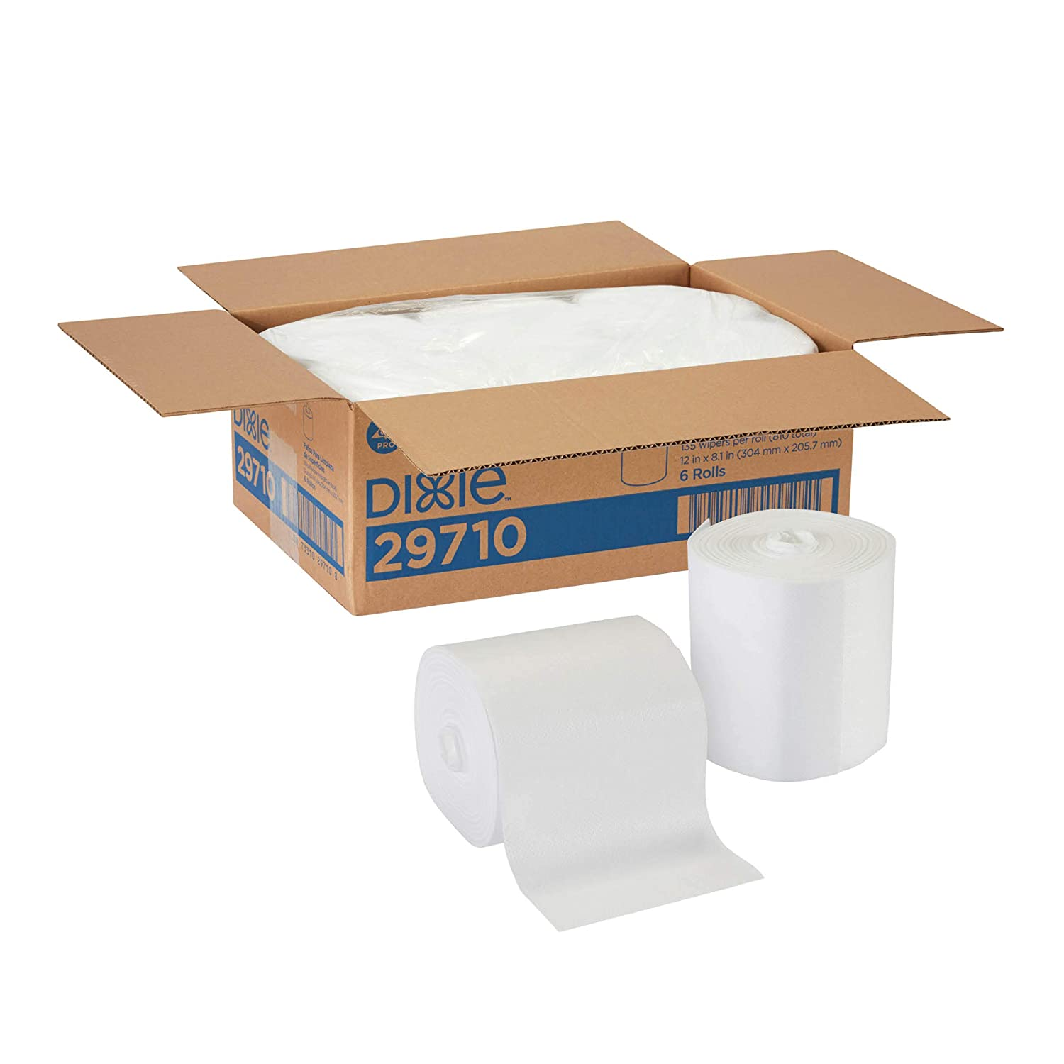 Georgia-Pacific Dixie Ultra Disposable Wiper Surface System for Food Service, 29710, 6 Rolls Per Case