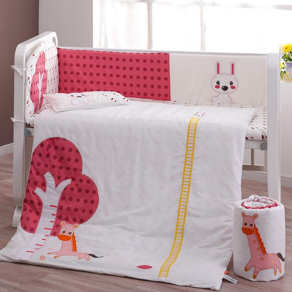 Babysing 8-in-1 Cotton Crib Bedding Set-Psychedelic Forest
