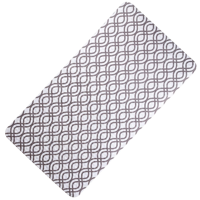 SENCOL Anti Slip mat Kids Bathtub mat Children Bathroom Non Slip mat with Color changeful Anti-Bacterial Bathtub Mat Bathroom Accessories: (38 x72cm, Grey White) by SENCOL