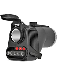 Reese Towpower 78119 Adapter with Built-in 12V Power Outlet (7-Way Blade to 4 or 5-Way Flat)