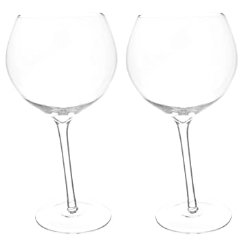 Juego De 2 Vasos De Cristal De Wonky Gin Y Tonic Por Ckb Ltd