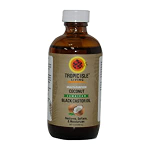 Tropic Isle Living Coconut Jamaican Black Castor Oil 4oz