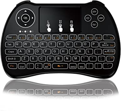 Mini teclado, P9 – Mando a distancia inalámbrico Mini teclado, Kodi portátil con touchpad Ratón para Android TV Box, Windows PC, Pad, Raspberry Pi, ...