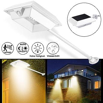 Garten & Terrasse 100% QualitäT Solarbeleuchtung Außenbeleuchtung Gartenleuchte Mit Bewegungsmelder Mit 20 Leds SchöN In Farbe Decken- & Wandleuchten