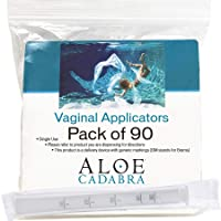 Extra Disposable Vaginal Applicators (90 Pack) Individually Wrapped, Fits Threaded Vaginal Creams and Contraceptive Gels