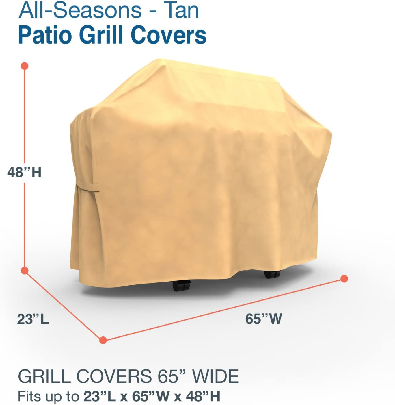 Amazon Com Budge P8005sf1 All Seasons Bbq Grill Cover Lightweight Uv Resistant 65 Wide Tan Garden Outdoor