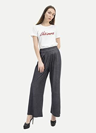 Cicel Girl Women's Casual Elasticity Wide Leg Jeans Pants