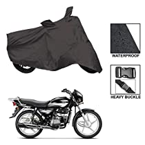 ARNV Branded Bajaj Pulsar Body Cover, Built Water Resistant Fabric, Comes with Pocket Mirror and Belt (Grey)