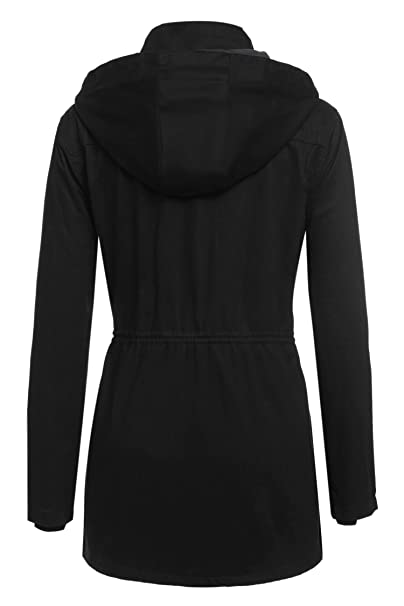 Amazon.com: HOTOUCH Casual Ladies Thicken Warmer Hoodie Coat Outerwear Jacket Black XXL: Clothing