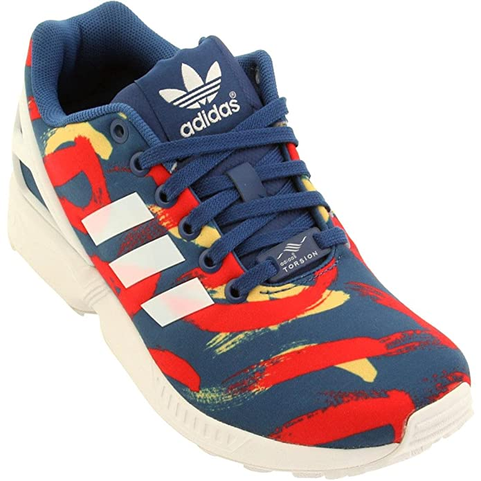 ad2aa19f168 Amazon.com | adidas ZX Flux Women's Shoes Dark Marine Blue/White s77313 (6  B(M) US) | Fashion Sneakers